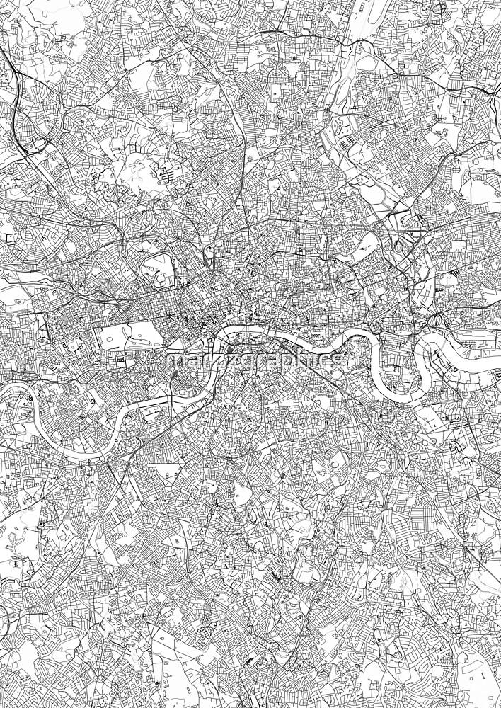photograph about Printable Map of London identify London map poster print wall artwork, United Kingdom reward