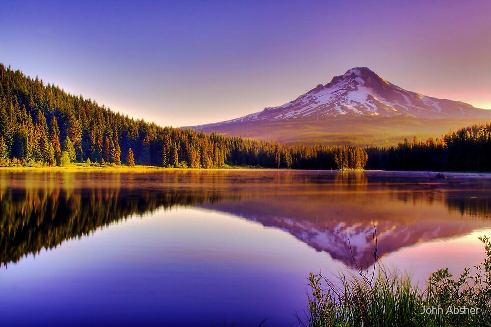 Dawn On The Hood - Mt. Hood, Oregon by John Absher