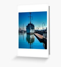 WW2 Minesweeper at anchor Greeting Card
