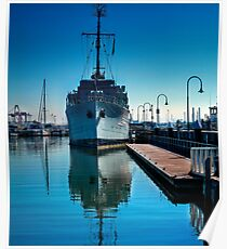 WW2 Minesweeper at anchor Poster