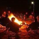 Camp Fire,Australian Outback by Joe Mortelliti
