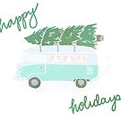Festive Van Happy Holidays by krisdrawsthings