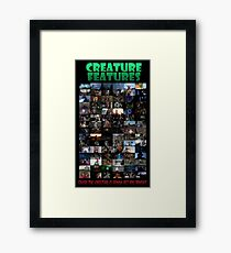 Creature Features Opening Theme Poster Framed Print