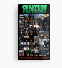 Creature Features Opening Theme Poster Metal Print
