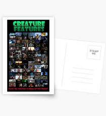 Creature Features Opening Theme Poster Postcards