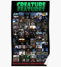 Creature Features Opening Theme Poster Poster
