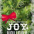 Holiday greeting card: JOY by Scott Mitchell