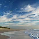Beach Walk - Bribie Island by Barbara Burkhardt
