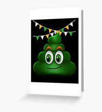 Poop Smile Smiley Funny St. Patrick's Day Gift Greeting Card