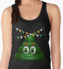 Poop Smile Smiley Funny St. Patrick's Day Gift Women's Tank Top