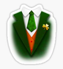 St. Patrick's Day Funny Suit and Tie Tuxedo Gift Sticker