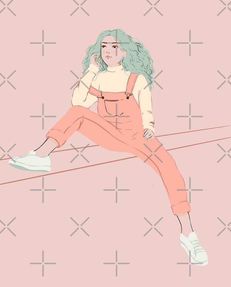 Girl in pink  by rhino-rose