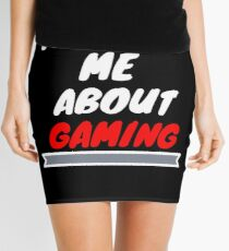 TALK TO ME ABOUT GAMING Mini Skirt
