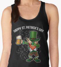 St. Patrick's Day Dabbing Lepricorn Dab Funny Gift Women's Tank Top