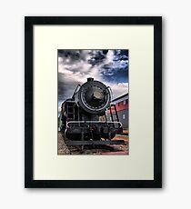 Locomotive in HDR Framed Print