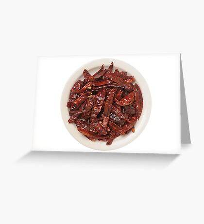 Indian Red Hot Peppers Greeting Card