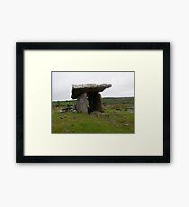poulnabrone portal tomb- The Burren, Ireland Framed Print