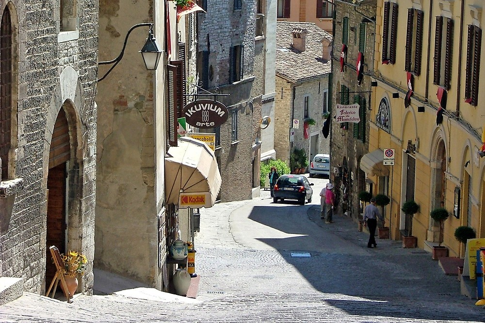 Streets of San Marino on Monte Titano by jules572