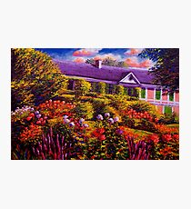 Monet's Garden and House Photographic Print