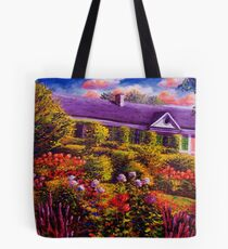 Monet's Garden and House Tote Bag
