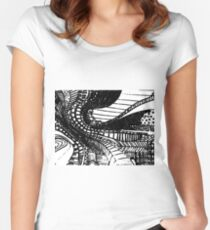 Saturated paths Women's Fitted Scoop T-Shirt