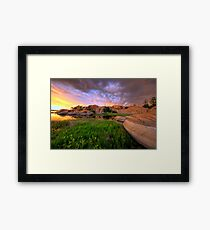 Willow Lake Round Rock Framed Print