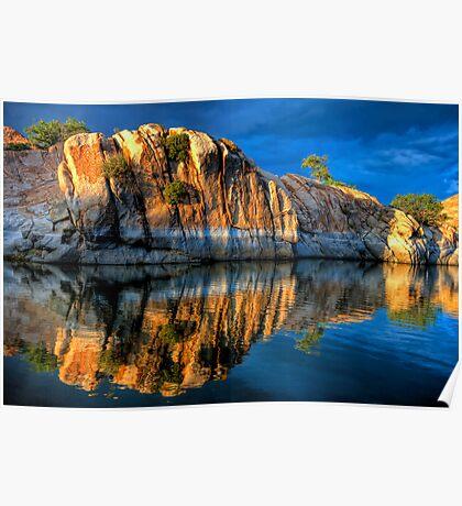 Big Rock Reflect Poster