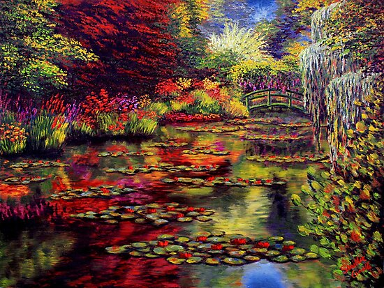 The Colors on Monet's Pond by sesillie