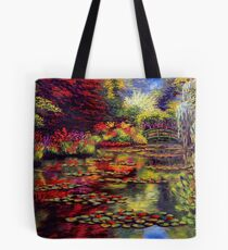The Colors on Monet's Pond Tote Bag