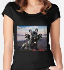 Französische Bulldogge Seestern Tailliertes Rundhals-Shirt