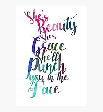 Beauty and Grace Photographic Print