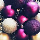 Purple Christmas Greeting Card by Michelle Swan