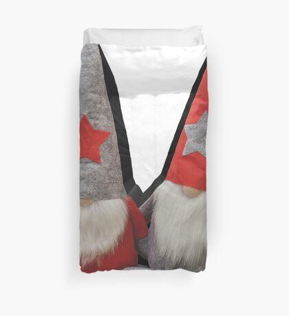 3D Christmas Gnomes Duvet Cover