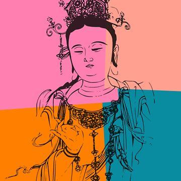 Retro Buddha by buddhabubba