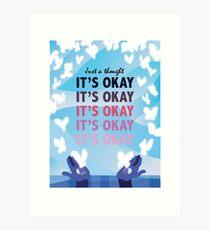 It's Okay Illustrated Quote Art Print