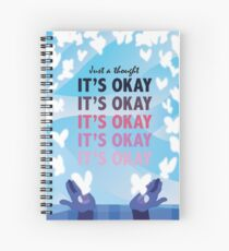 It's Okay Illustrated Quote Spiral Notebook
