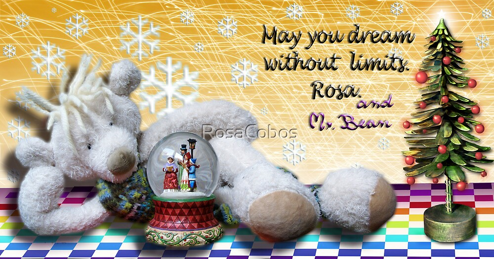 """""""Rosa&Mr.Bean Best Wishes for 2010"""" by RosaCobos"""