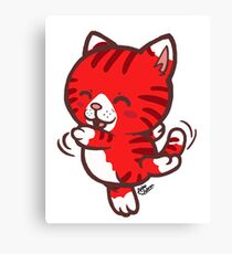 Dancing Tabby (Red) Canvas Print