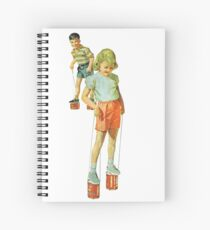 The Simple Life : Tin Can Stilts Spiral Notebook