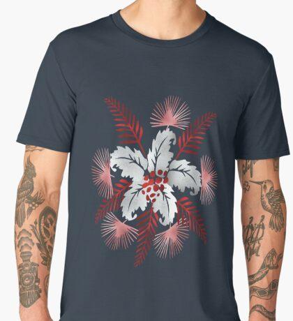 Leaf flower Pattern /lake side  ( 824 Views) Men's Premium T-Shirt