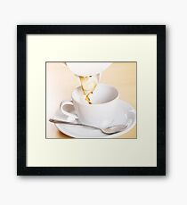 Pouring coffee Framed Print