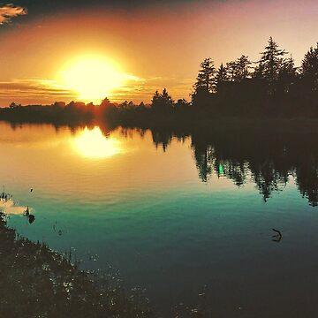 River Sunset Reflections  by Pagani