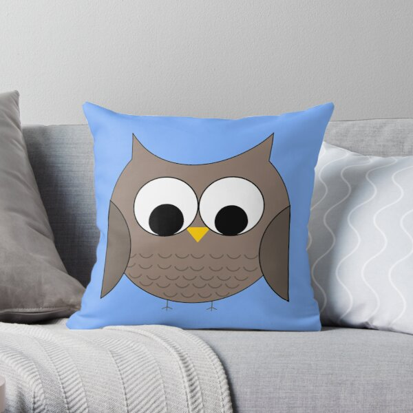 Owl in the Sky Throw Pillow