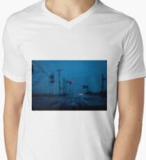view from car window at rainy day Men's V-Neck T-Shirt