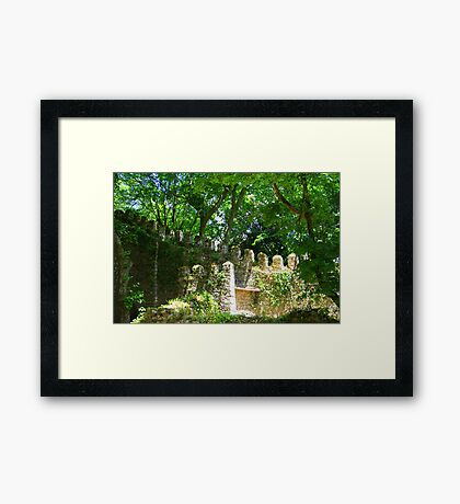 Overgrown ruins - Sintra (Portugal) Framed Print