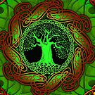 Celtic Tree - Illuminated version  by IceFaerie