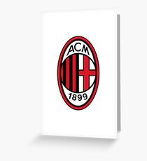 AC Milan by Max Aldred Greeting Card
