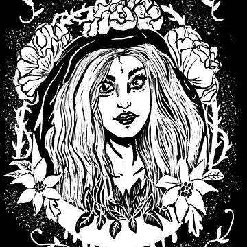 Dark Mori Forest Witch Gothic Druidess von lunaelizabeth