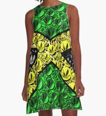 Jamaican Cannabis Flag  A-Line Dress