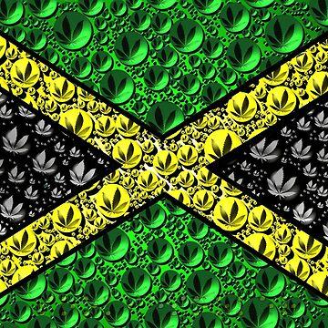 Jamaican Cannabis Flag  by Sookiesooker